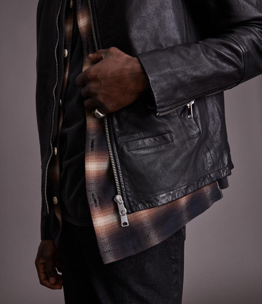 Herren Gates Leather Jacket (black) - Image 4