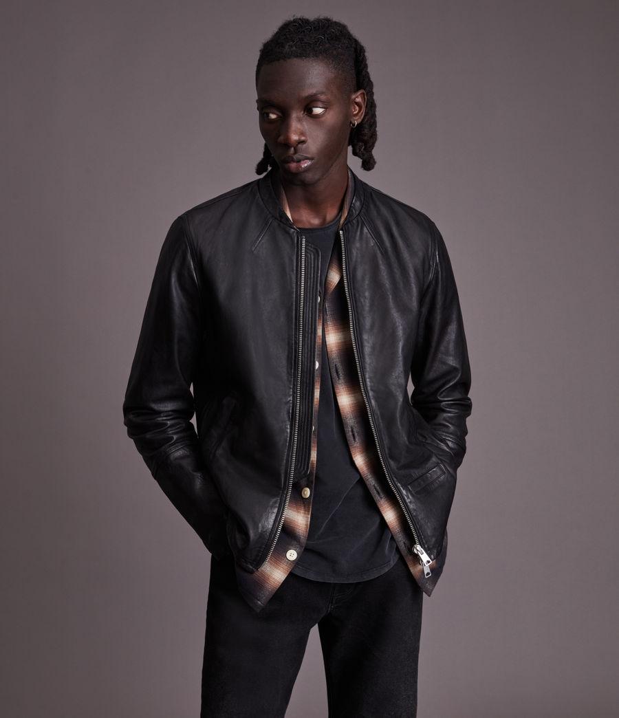 Herren Gates Leather Jacket (black) - Image 5