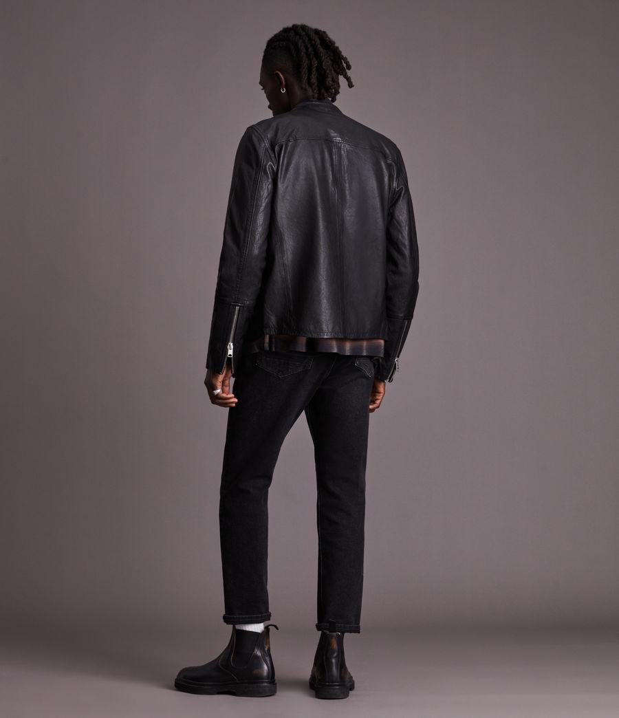 Herren Gates Leather Jacket (black) - Image 6