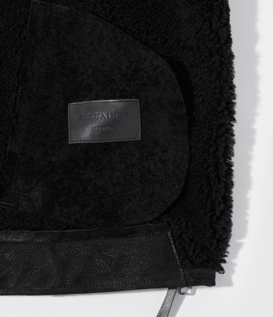 Men's Byward Shearling Biker Jacket (black) - Image 9