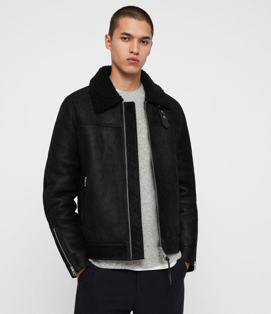 Men's Gunstor Shearling Jacket (black) - Image 1