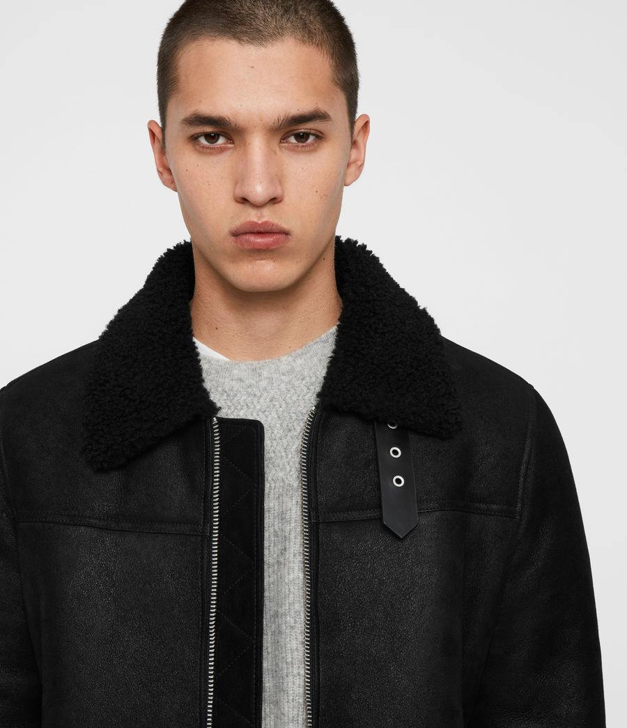 Men's Gunstor Shearling Jacket (black) - Image 2