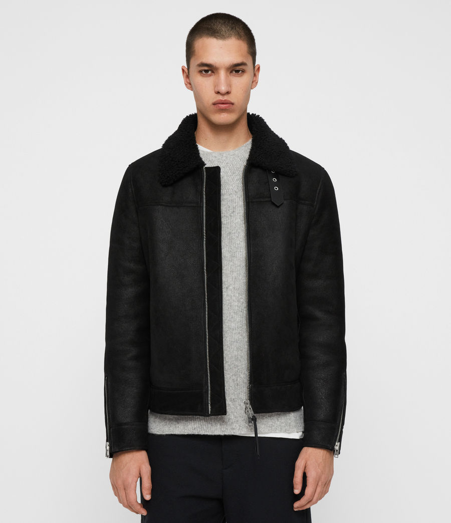 Men's Gunstor Shearling Jacket (black) - Image 4