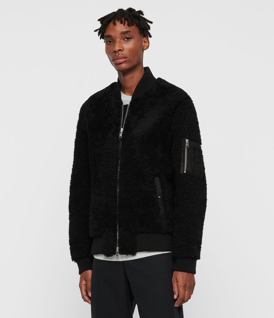 Men's Dale Shearling Bomber Jacket (black_black) - Image 1