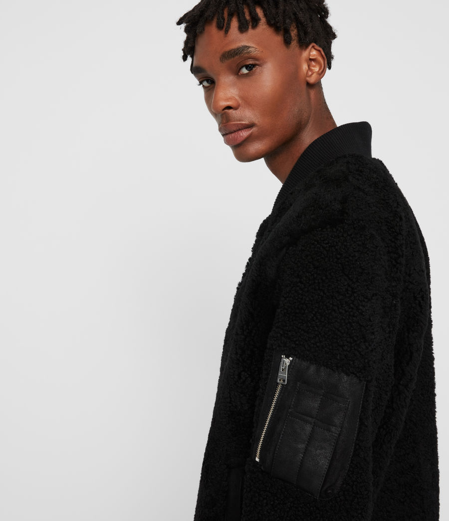 Men's Dale Shearling Bomber Jacket (black_black) - Image 2