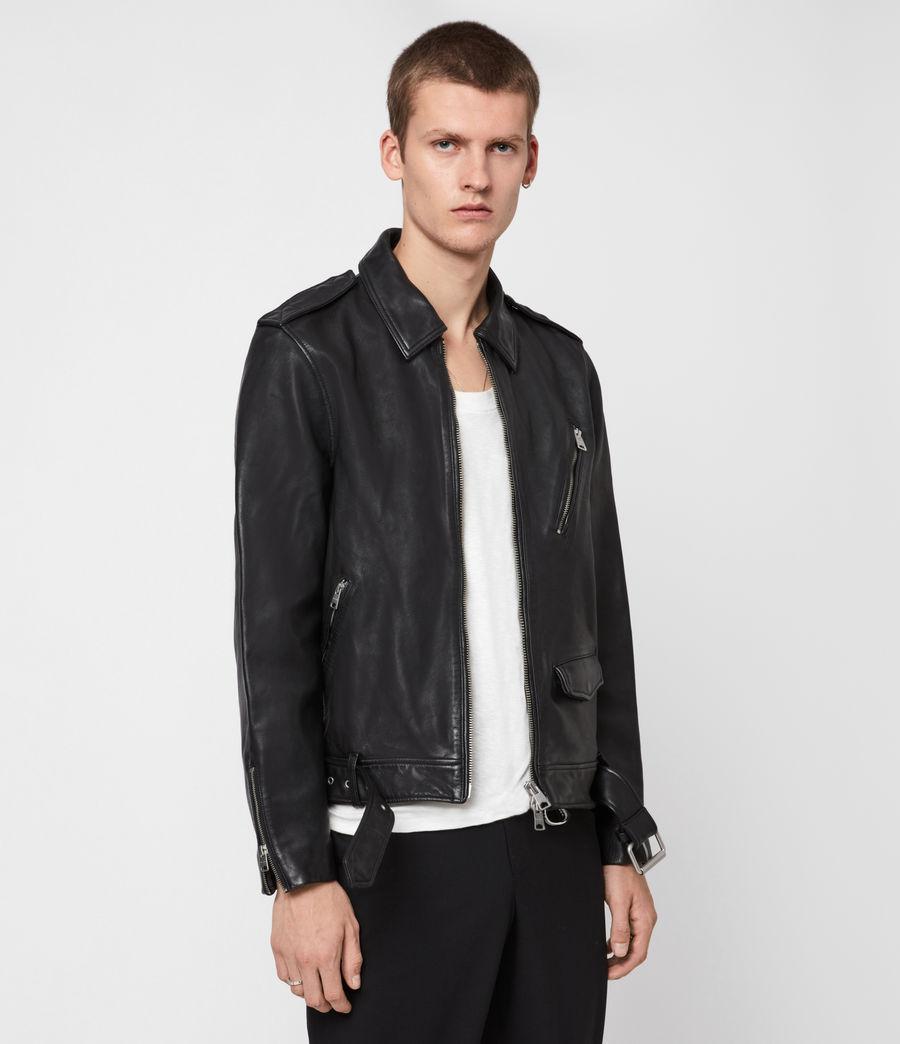 Men's Monza Leather Jacket (black) - Image 1