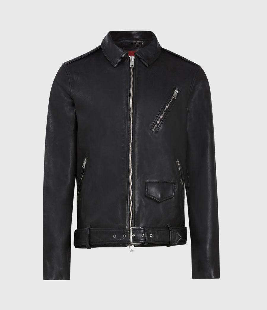 Men's Monza Leather Jacket (black) - Image 2