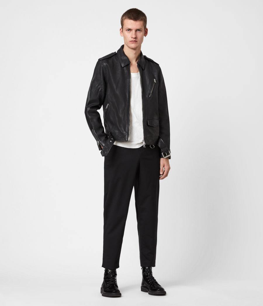 Men's Monza Leather Jacket (black) - Image 4