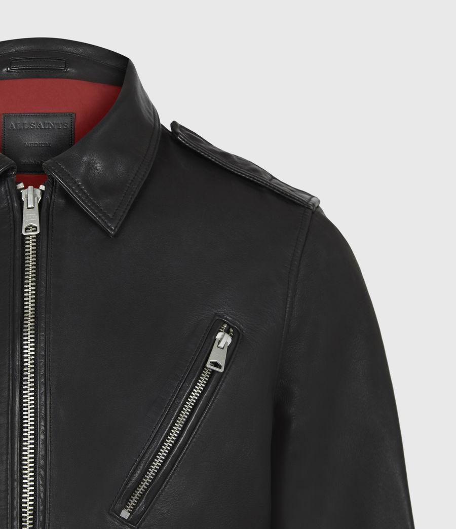 Men's Monza Leather Jacket (black) - Image 5