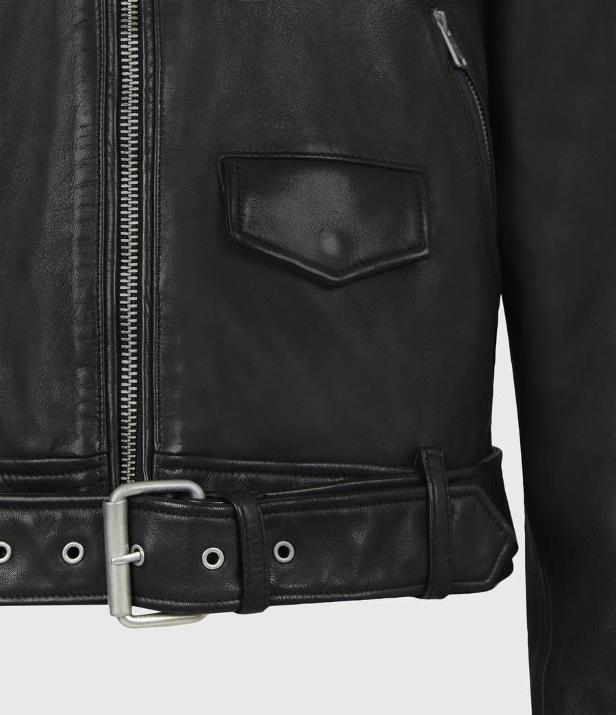 Men's Monza Leather Jacket (black) - Image 6