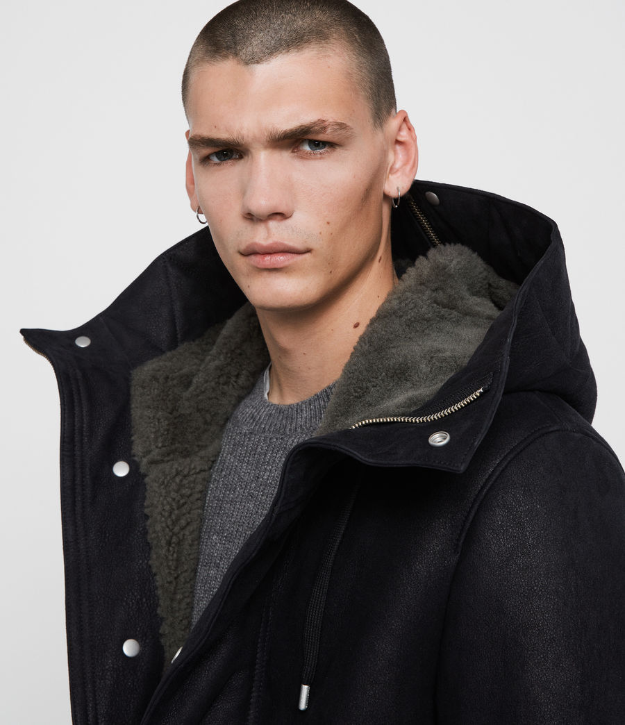 Men's Ramac Shearling Coat (black_slate_grey) - Image 2