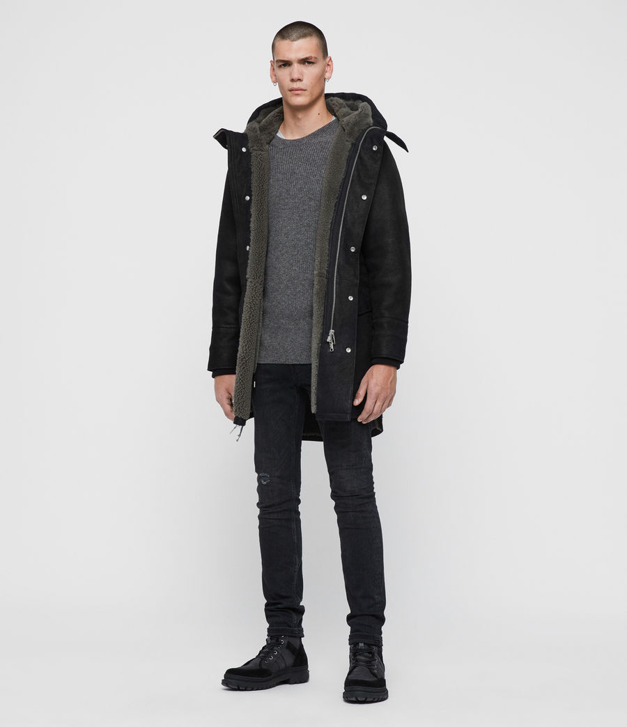 Men's Ramac Shearling Coat (black_slate_grey) - Image 3