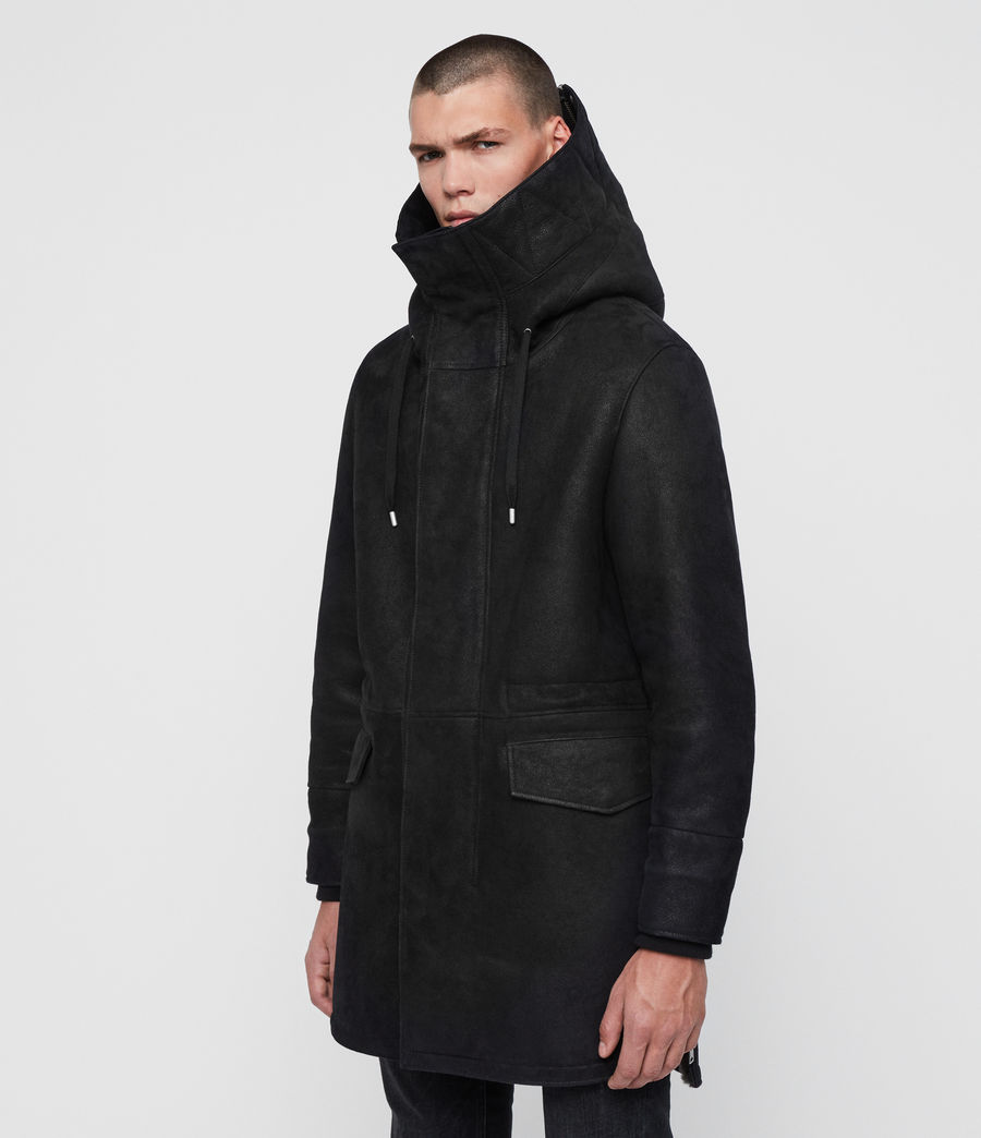 Men's Ramac Shearling Coat (black_slate_grey) - Image 4