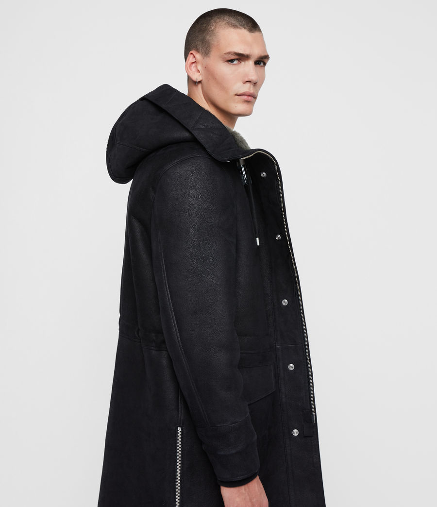 Men's Ramac Shearling Coat (black_slate_grey) - Image 6