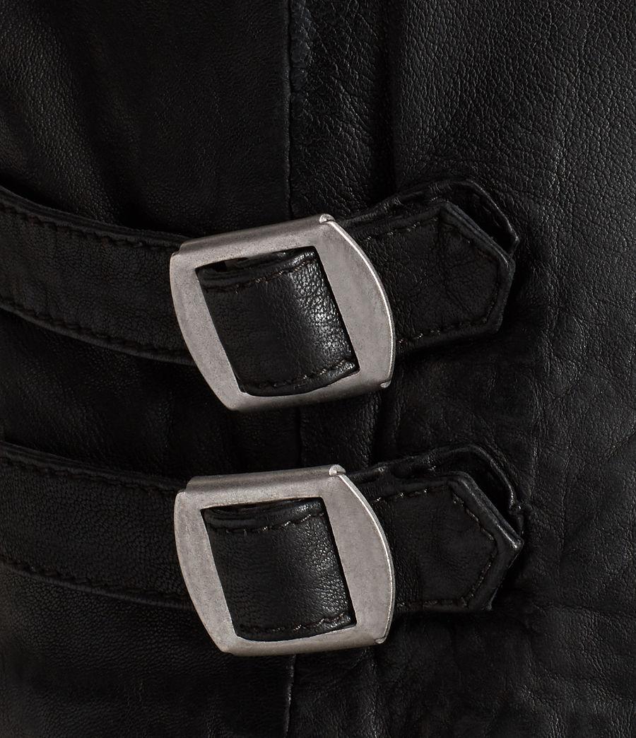 Mens Den Leather Biker Jacket (ink_navy) - Image 7