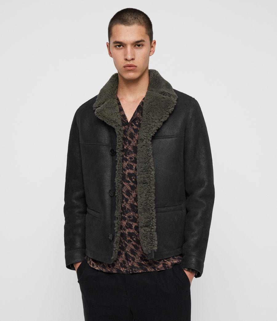 Men's Garrick Shearling Jacket (black_slate_grey) - Image 1