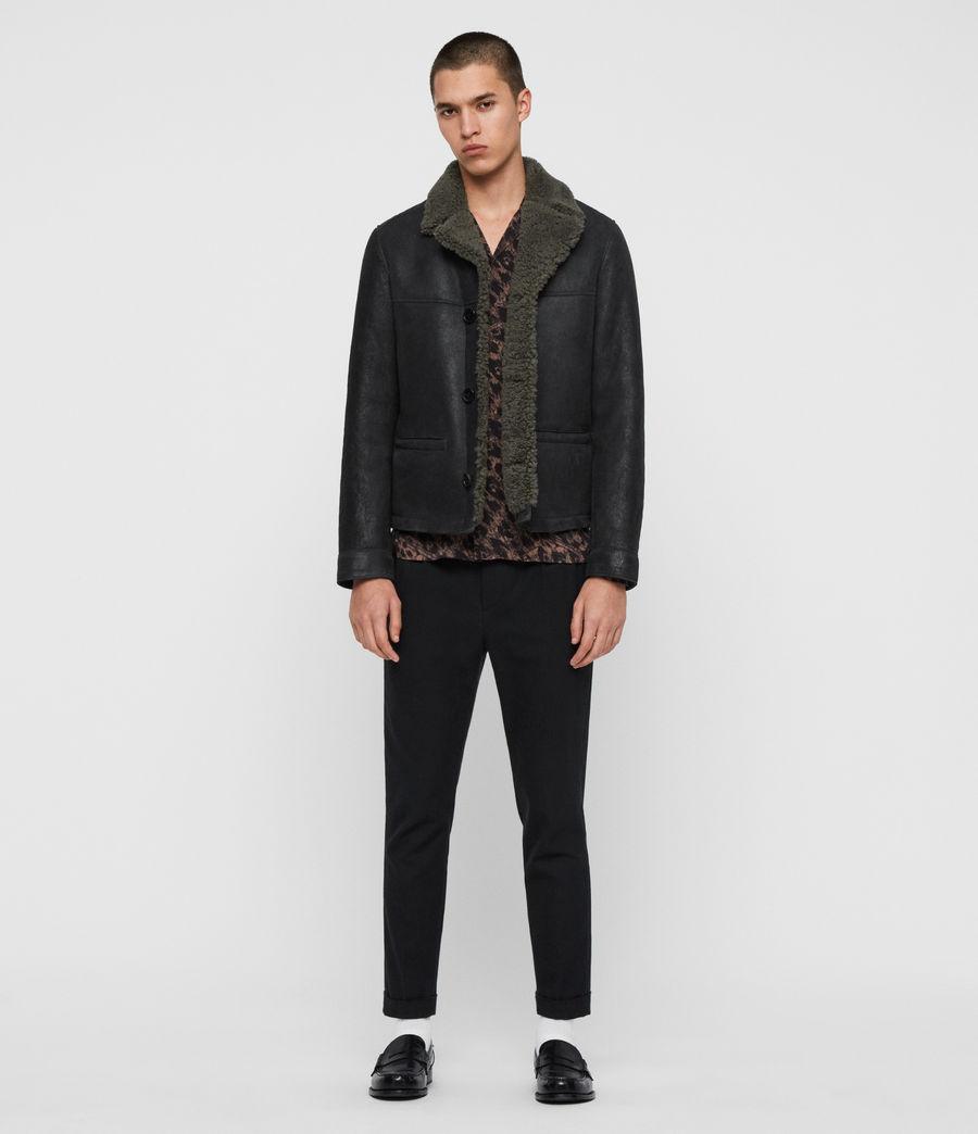 Men's Garrick Shearling Jacket (black_slate_grey) - Image 3
