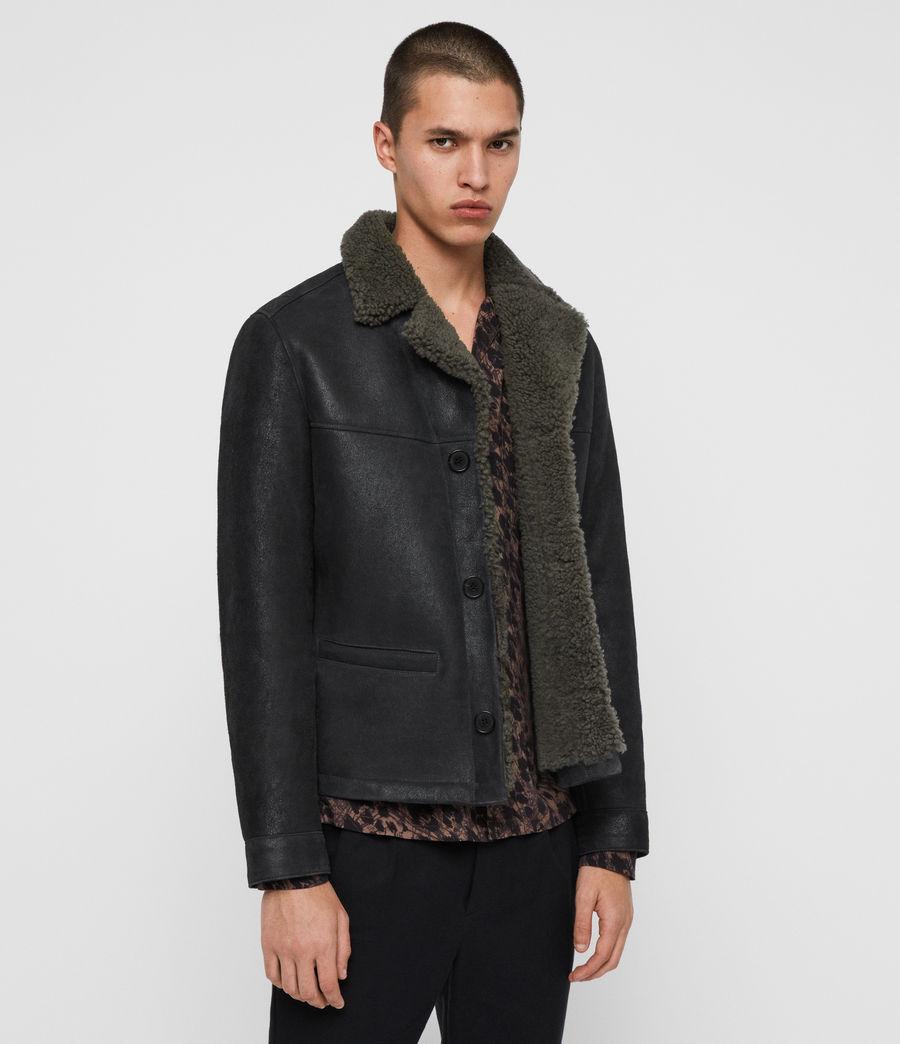 Men's Garrick Shearling Jacket (black_slate_grey) - Image 4