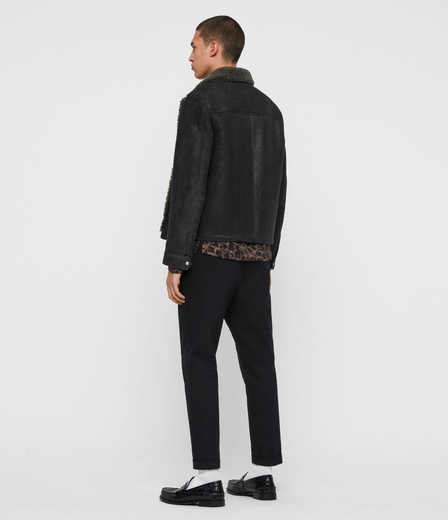 Men's Garrick Shearling Jacket (black_slate_grey) - Image 5