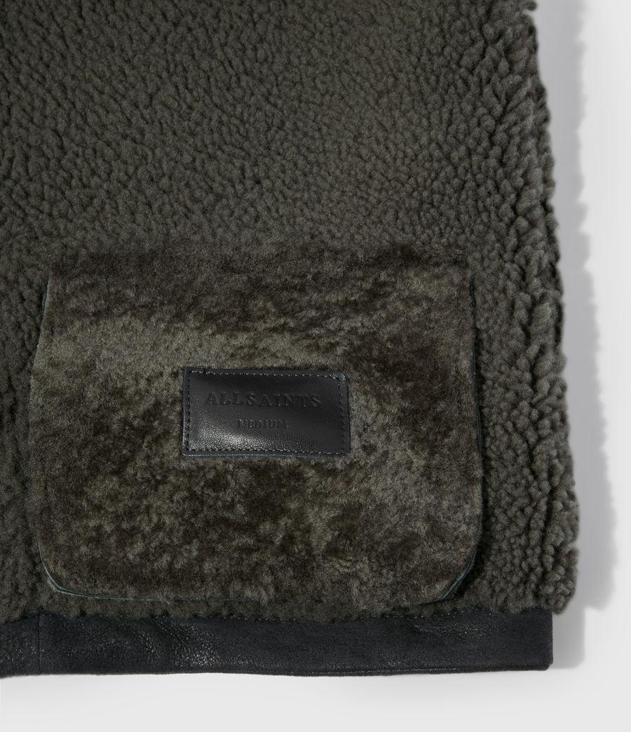 Men's Garrick Shearling Jacket (black_slate_grey) - Image 6