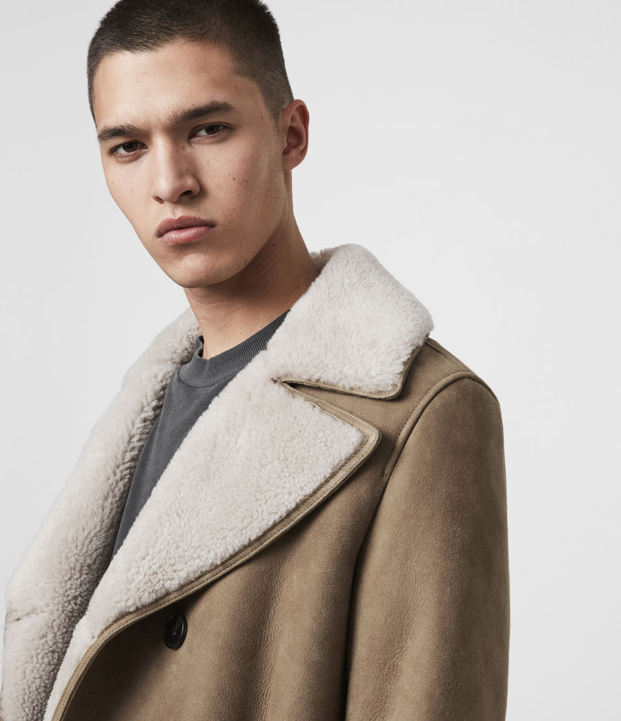 Men's Kenley Shearling Coat (tan_natural) - Image 2