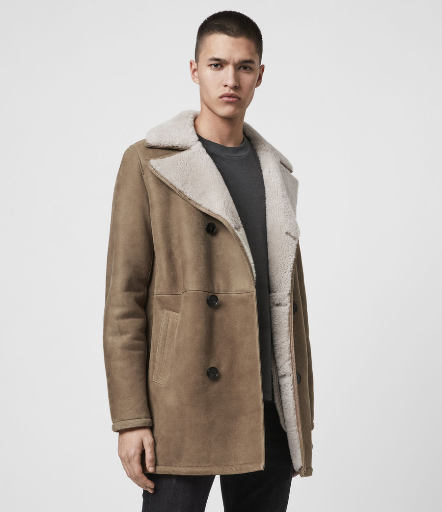 Men's Kenley Shearling Coat (tan_natural) - Image 4