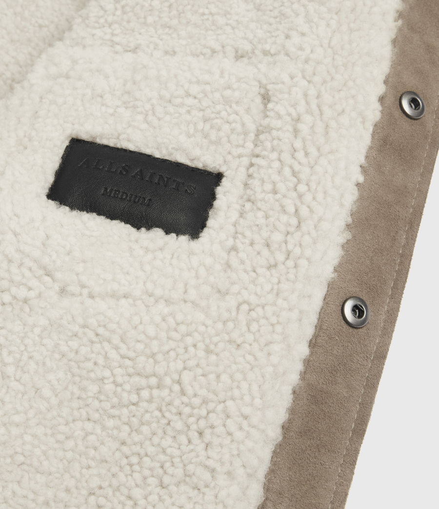 Mens Walbrook Shearling Shirt (pebble) - Image 8