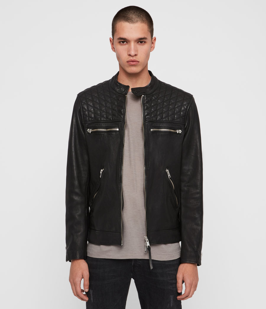 Men's Amersham Leather Jacket (black) - Image 1