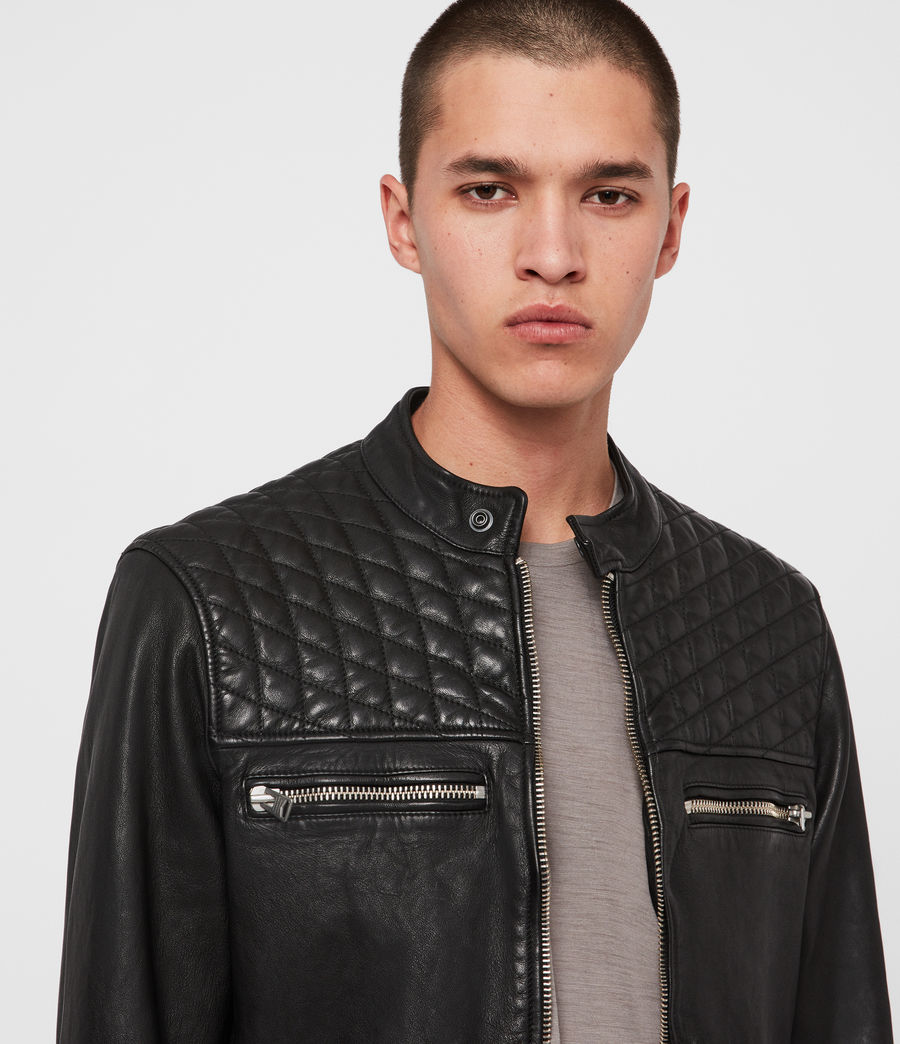 Men's Amersham Leather Jacket (black) - Image 2