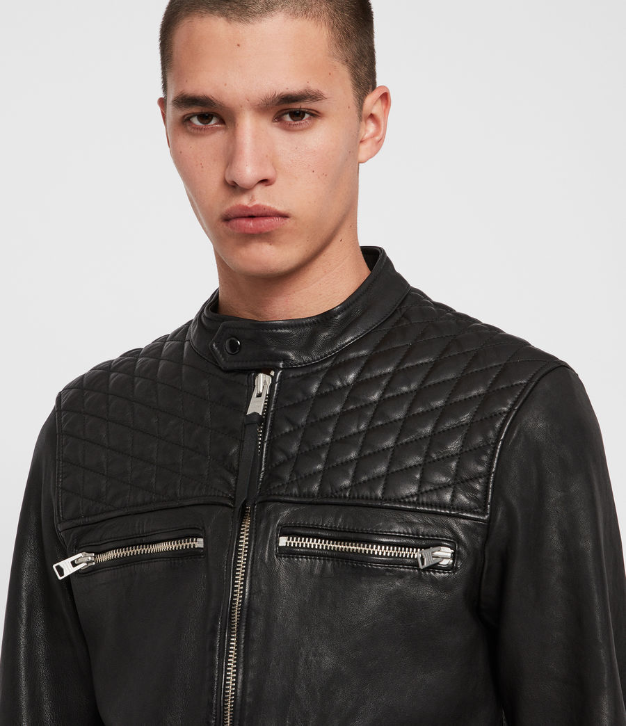 Men's Amersham Leather Jacket (black) - Image 5