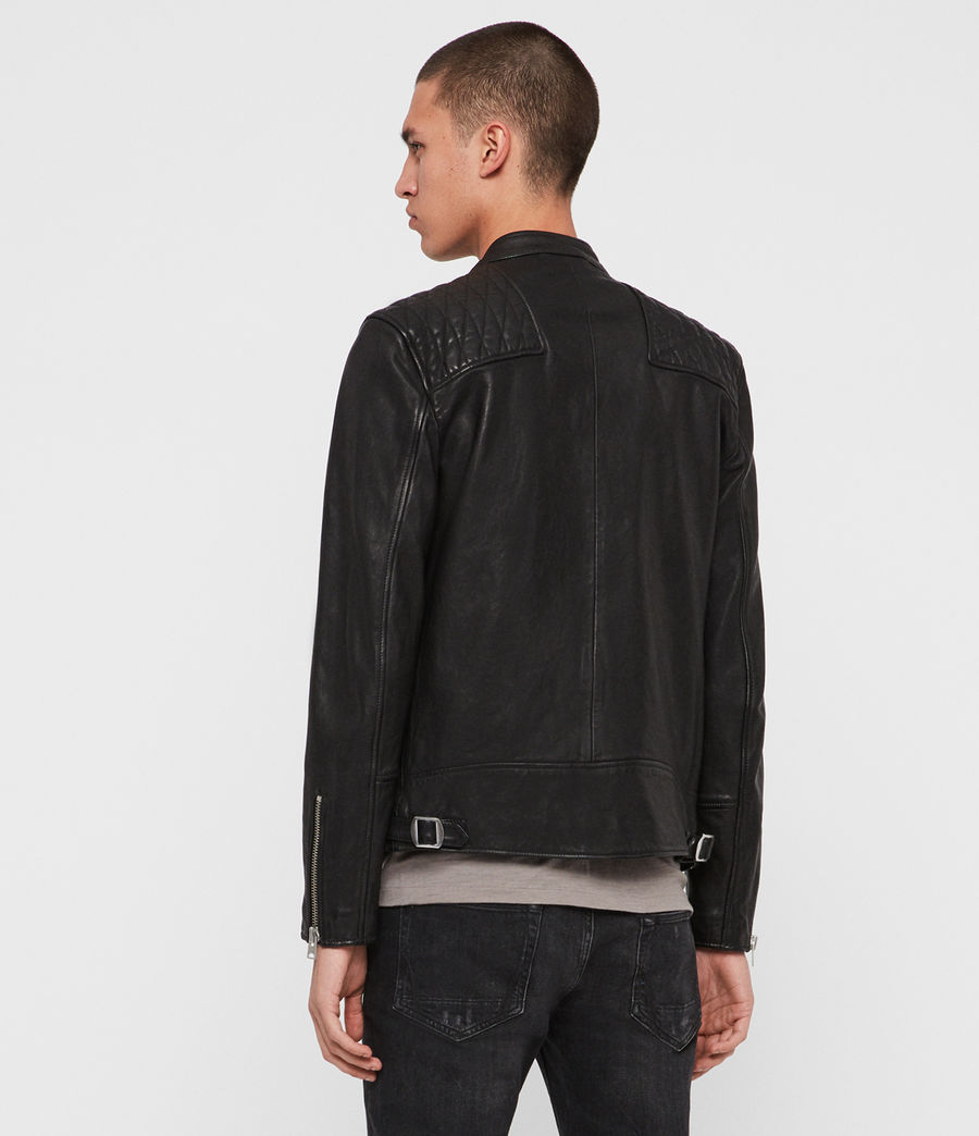 Men's Amersham Leather Jacket (black) - Image 6