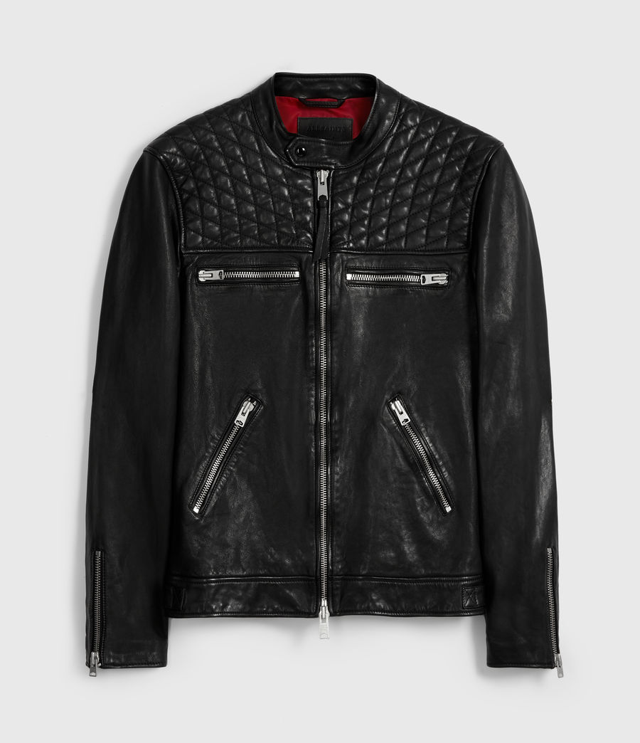Men's Amersham Leather Jacket (black) - Image 7