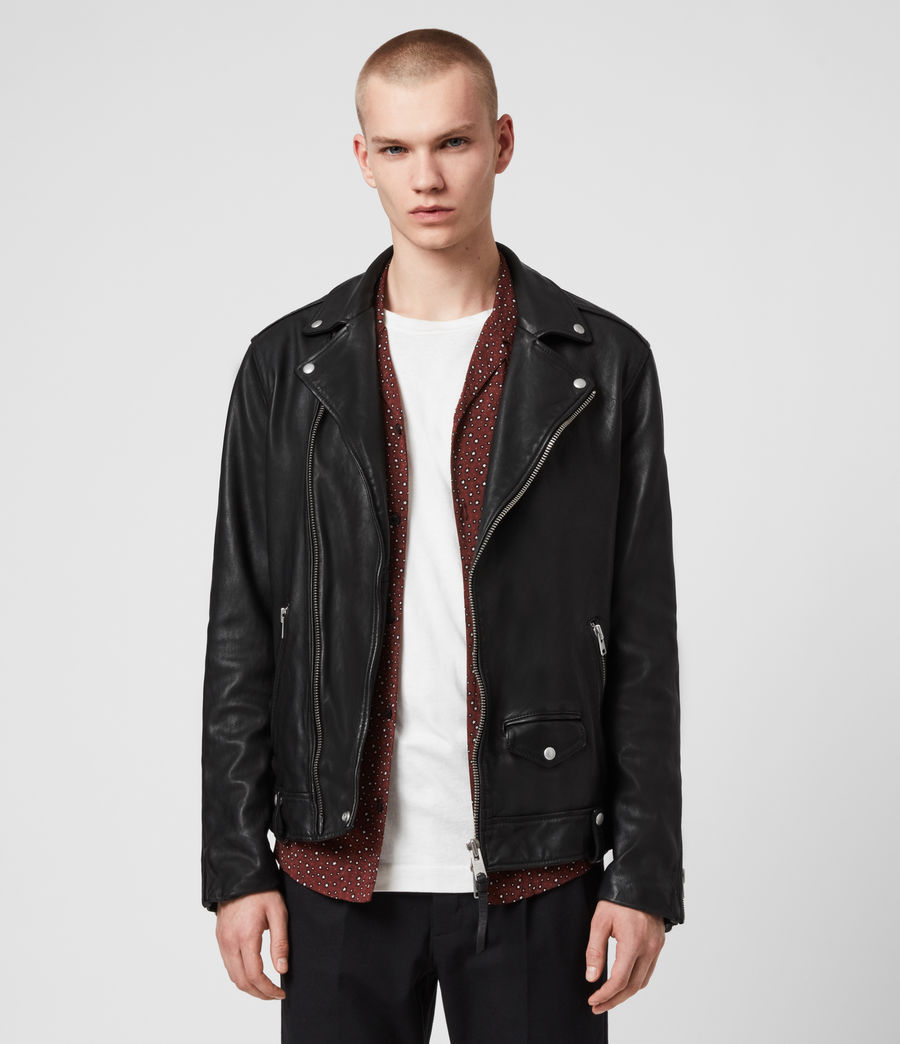 Hommes Hedworth Biker Jacket (black) - Image 1