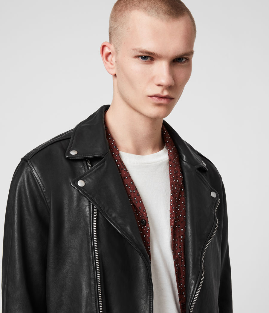 Hommes Hedworth Biker Jacket (black) - Image 2