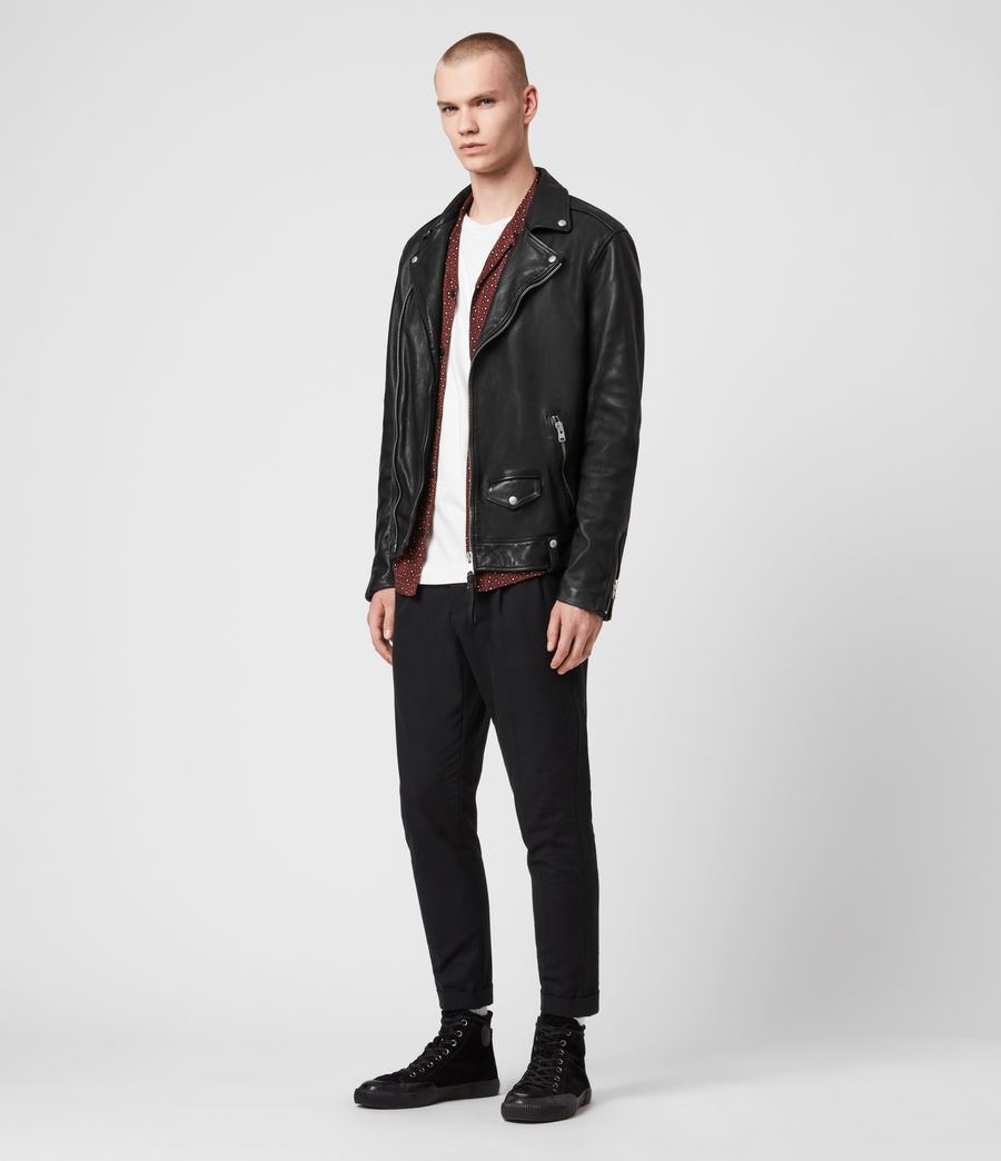 Hommes Hedworth Biker Jacket (black) - Image 3