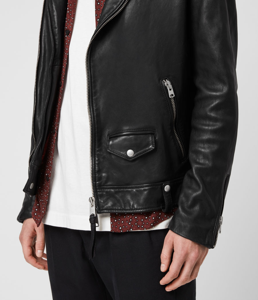 Hommes Hedworth Biker Jacket (black) - Image 4