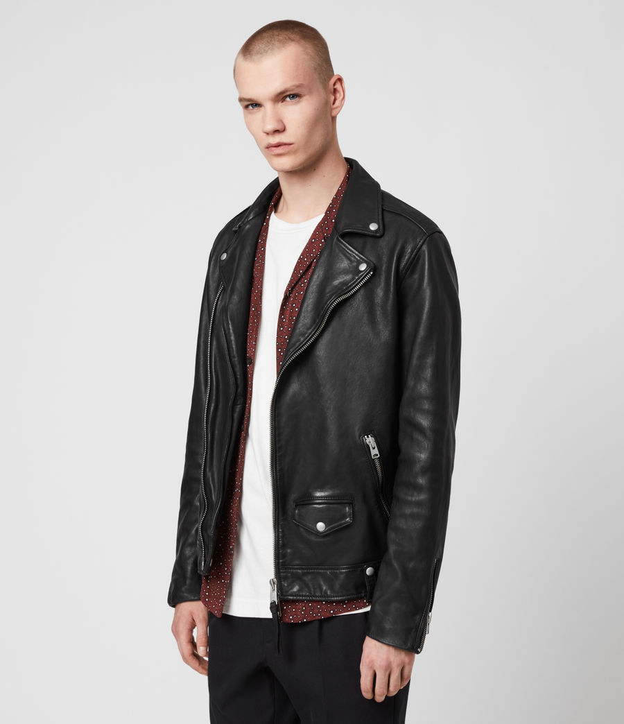 Hommes Hedworth Biker Jacket (black) - Image 5