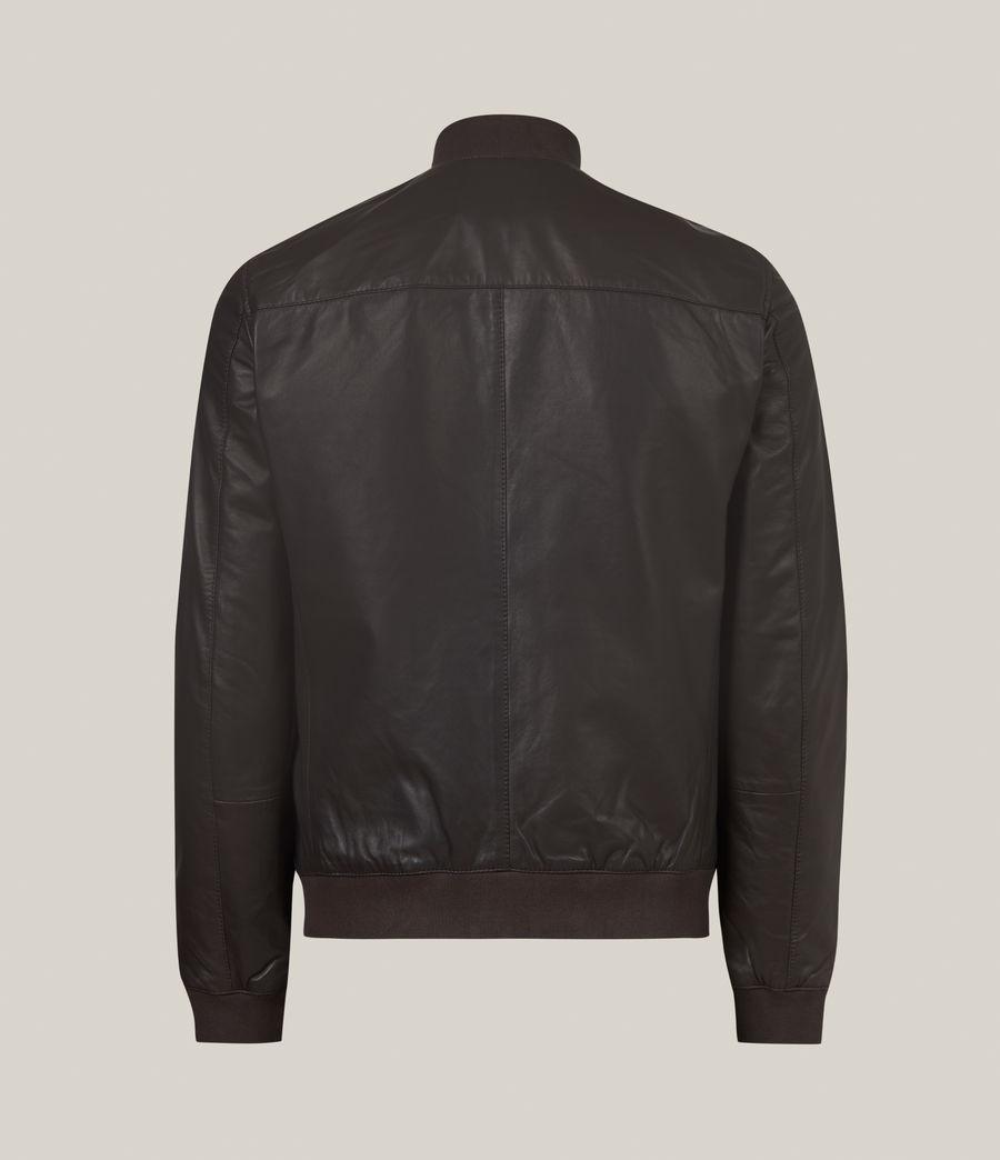 Hommes Bales Leather Bomber Jacket (slate_grey) - Image 4