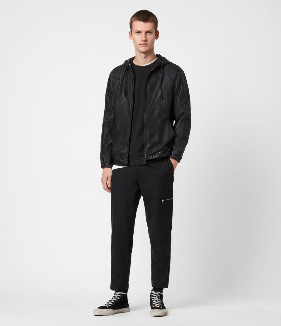 Men's Penton Leather Hoodie (black) - Image 7