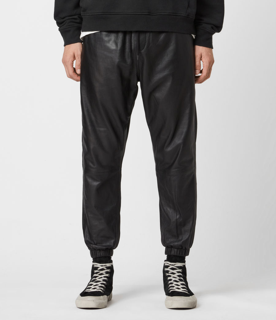 Mens Penton Leather Cuffed Pants (black) - Image 1