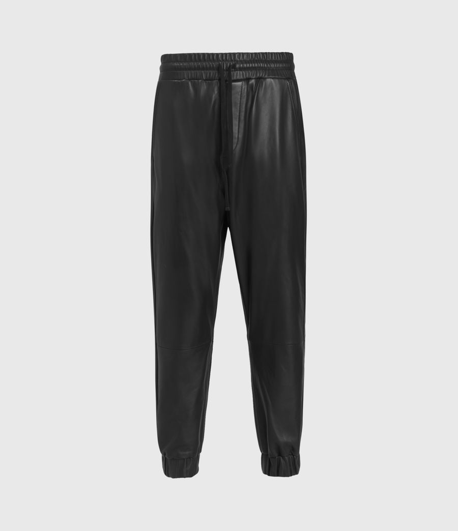 Mens Penton Leather Cuffed Pants (black) - Image 2