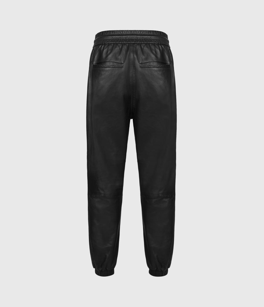 Mens Penton Leather Cuffed Pants (black) - Image 3