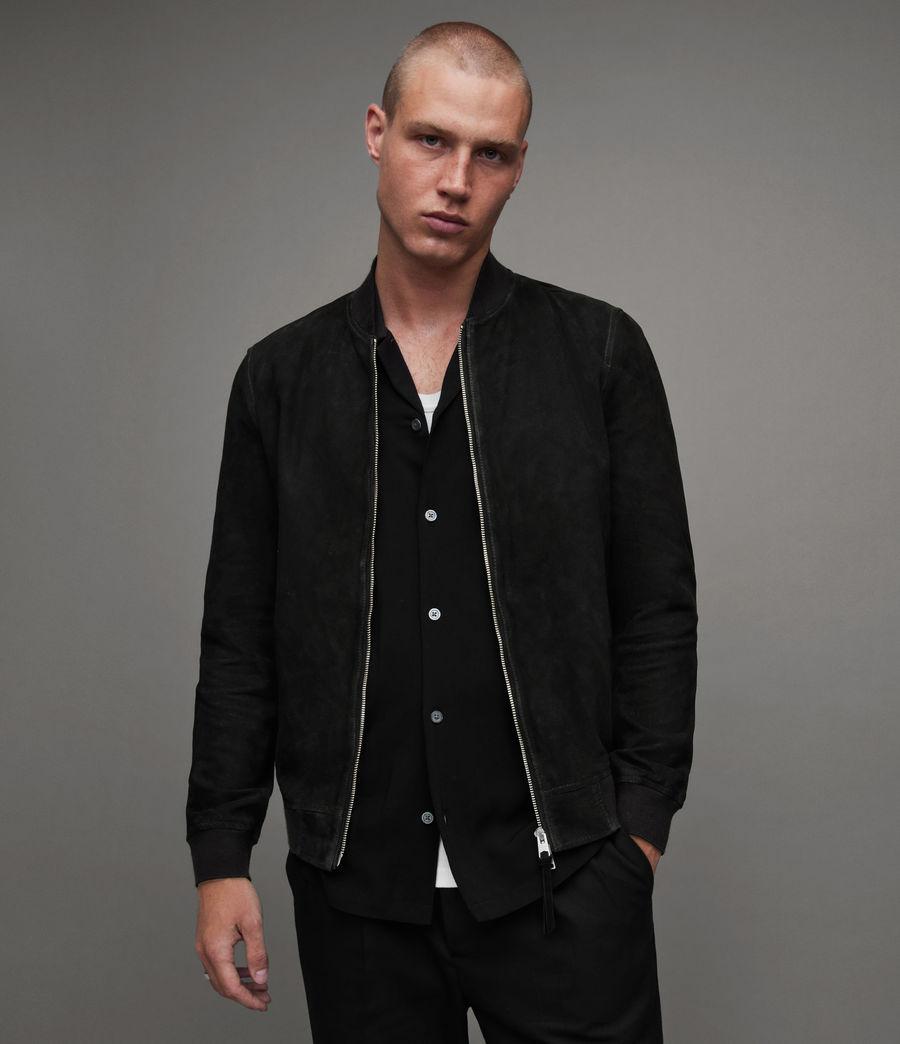 Men's Ronan Suede Bomber Jacket (black) - Image 1