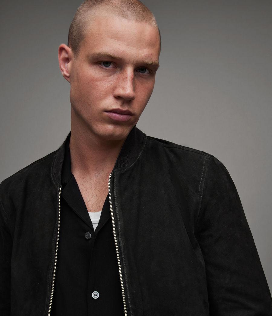 Men's Ronan Suede Bomber Jacket (black) - Image 2