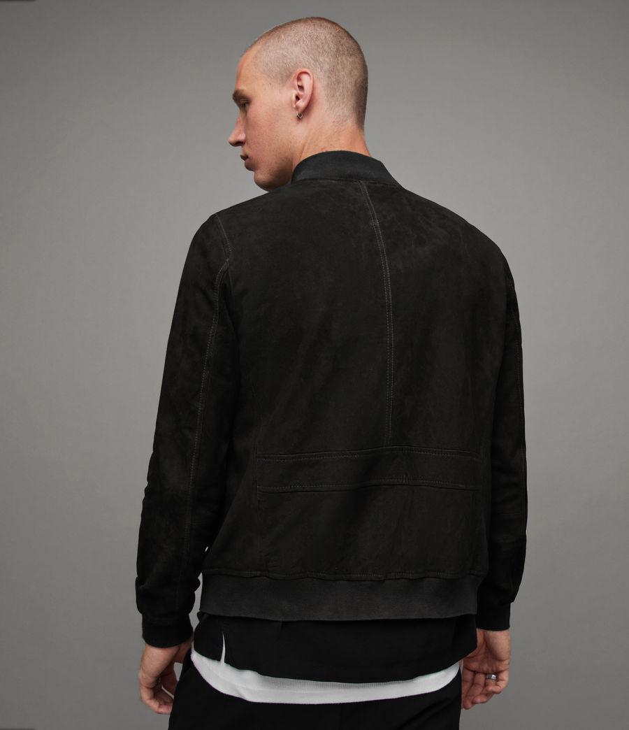 Men's Ronan Suede Bomber Jacket (black) - Image 5
