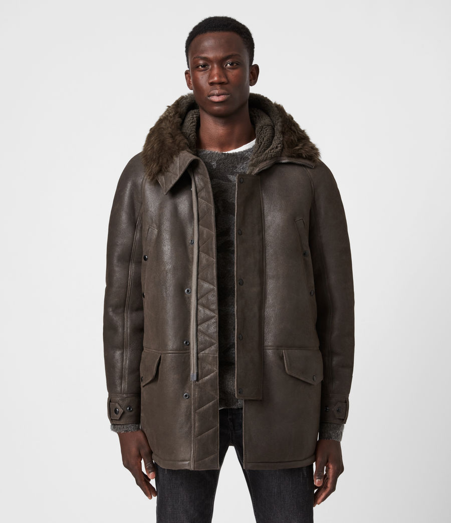 Men's Reidun Shearling Parka (military_green) - Image 1