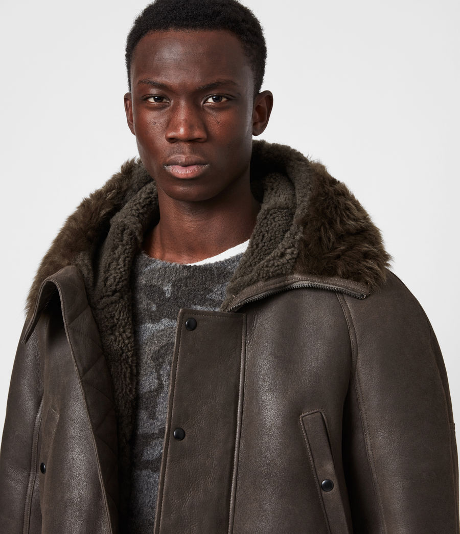 Men's Reidun Shearling Parka (military_green) - Image 4