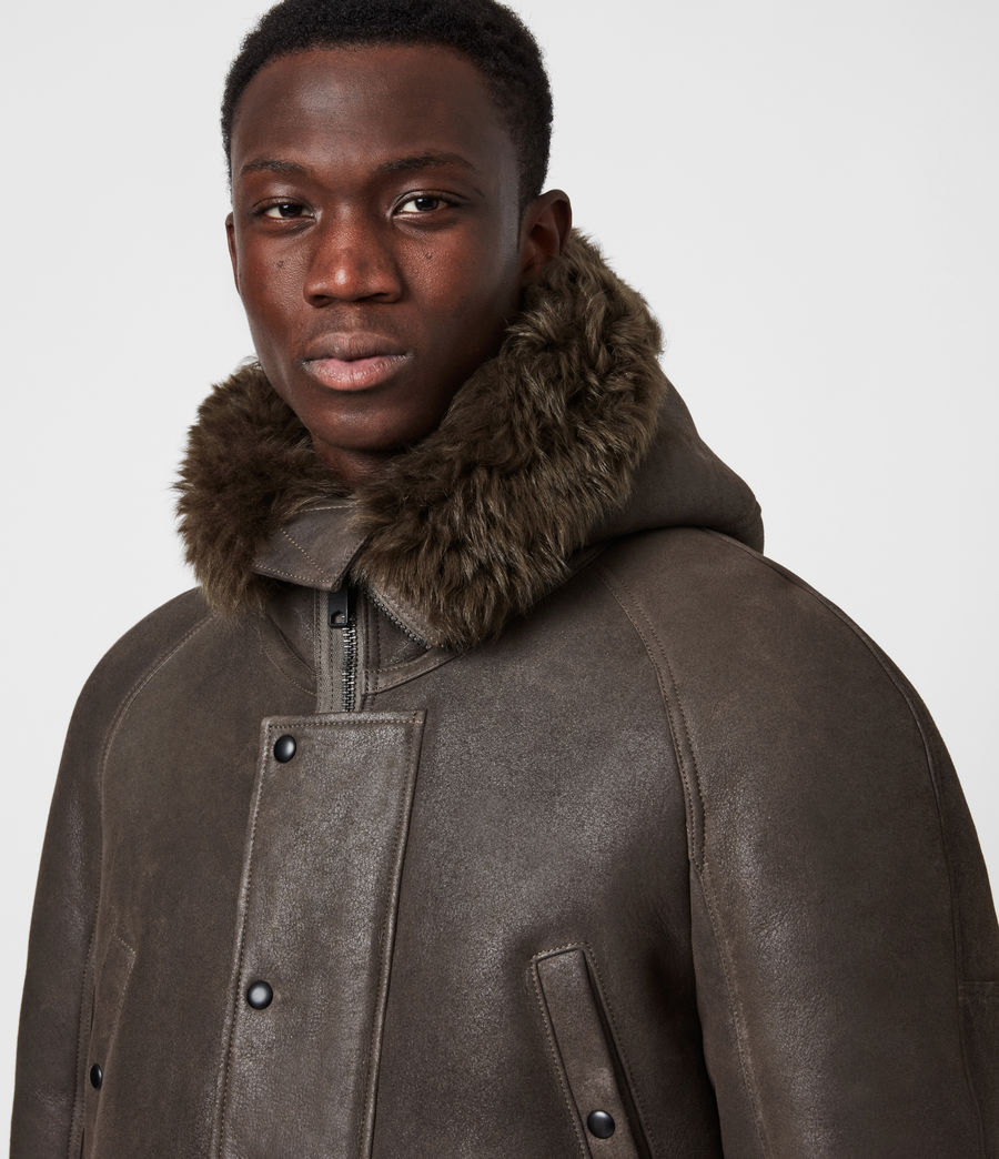Men's Reidun Shearling Parka (military_green) - Image 6