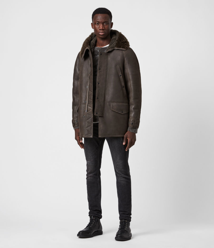 Men's Reidun Shearling Parka (military_green) - Image 7