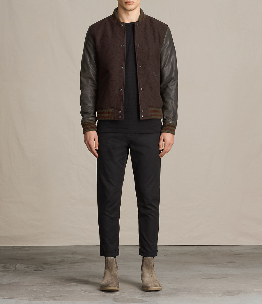 Hommes Bomber Buck (oxblood_red_brown) - Image 1